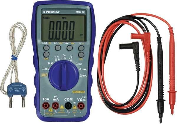 Multimeter DMM 10 0-600 V AC/DC TRUE RMS PROMAT