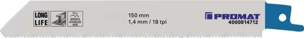 Säbelsägeblatt L.150mm B.19mm TPI 18 1,4mm 5 St./Karte