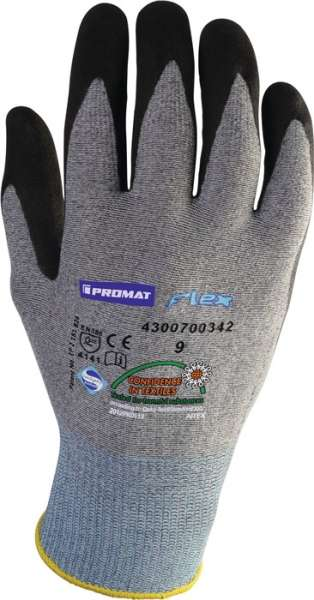 Handschuhe Flex Gr.10 grau/schwarz EN