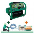 Kompressor Prebena Vitas 45 im Angebot + Druckluftnagler 2XR-J50 + Schlauchset Z200.25 + 1 J-Box