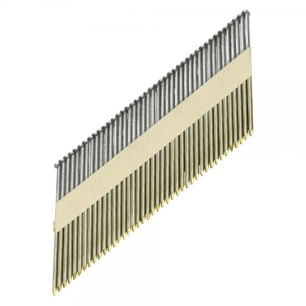 Streifennägel D-Kopf 34° 3,1×80 mm, blank, gerillt