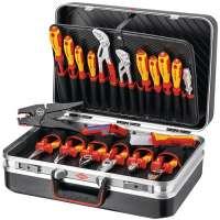 Werkzeugkoffer 20-tlg.Koffer a.ABS-Material Elektroinstallation KNIPEX