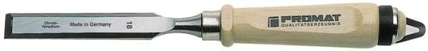 Stechbeitel Schneiden-B.16mm m.Zwinge Weißbuchenh.Ulmer Form CV-Stahl PROMAT