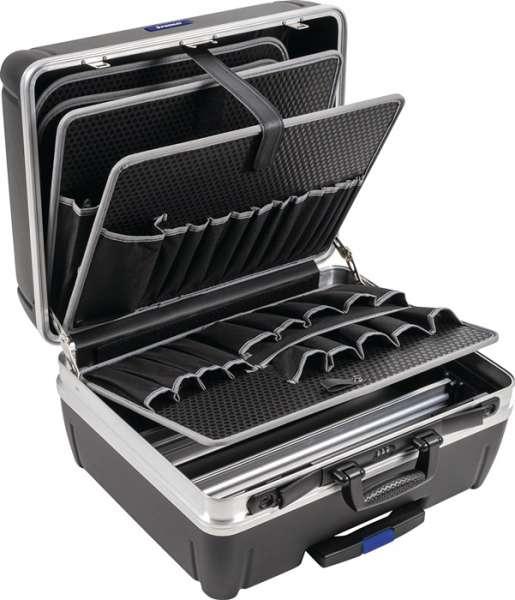 Schalenkoffer Innen-B485xT230xH375mm HDPE-Material 42l Alu-Rahmen PROMAT