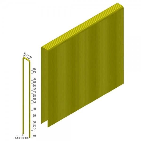 Klammern Type KG755 CNKHA 12 µm verzinkt, geharzt, ETA Diamond coating