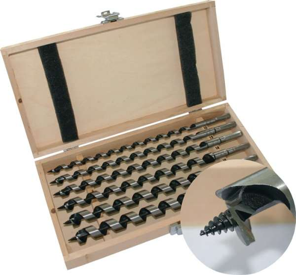 Schlangenbohrersatz 6-tlg.L.460mm 10-20mm in Holzkassette PROMAT