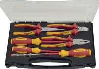 Zangen-/Werkzeugsatz 7-tlg.Mehrkomp.-Hülle Ku.-Koffer VDE PROMAT