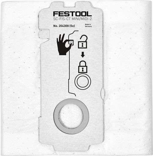 Festool SELFCLEAN Filtersack SC-FIS-CT MINI/MIDI-2/5 Füllvolumen max. 15 l