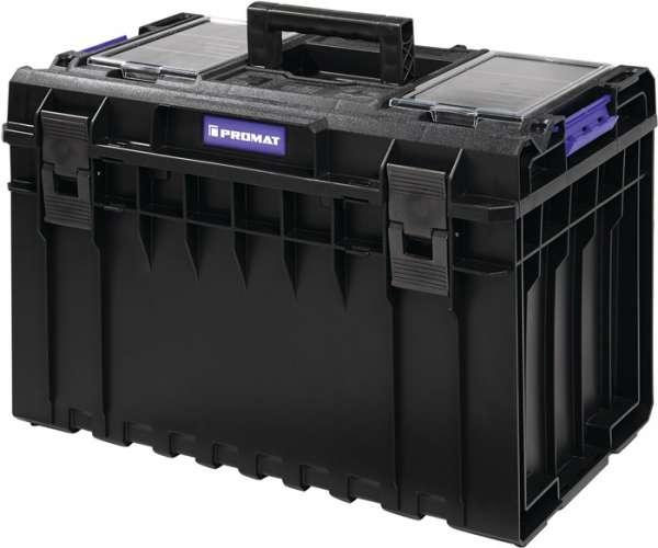 Werkzeugkoffer Außen-B585xT385xH420mm Polycarbonate Deckel 52l PROMAT