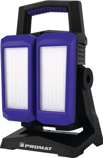 LED-Strahler 50 W 800-4500 lm Li-Ion 5200 mAh 14,8 V IP54 PROMAT