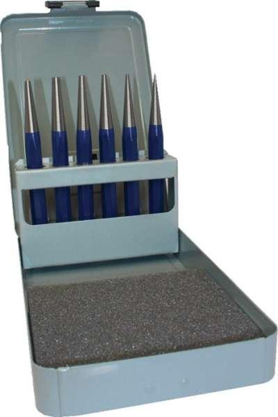Durchtreibersatz 6tlg.1-2-3-4-5+Körner-D.4mm Metallkassette PROMAT