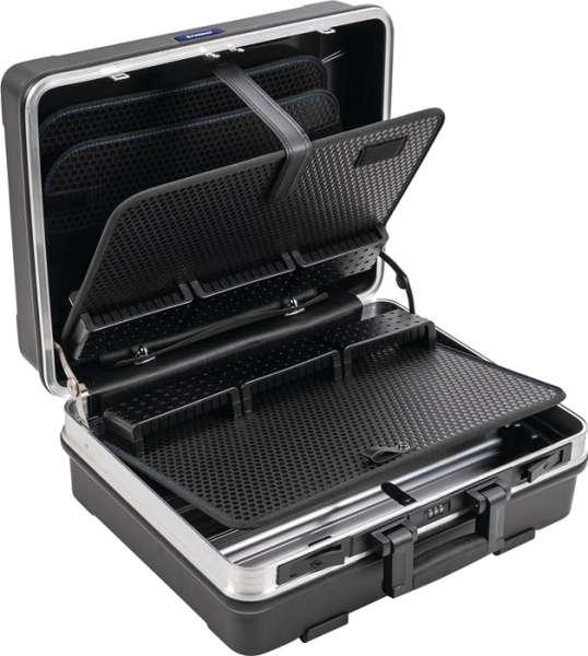 Schalenkoffer BxTxHmm m.Werkzeugmodul 29l ABS Ku.Alu-Rahmen PROMAT