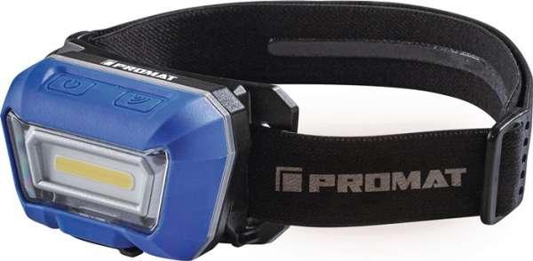 LED-Kopfleuchte 3,8 V 1600 mAh 1xLi-Ion Polymer 3 W Blisterverpackung PROMAT